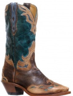 Ladies Boulet Snip Toe Cowgirl Boot 8611