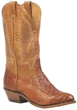 Men's Boulet Smooth Ostrich Medium Cowboy Toe Boot 1514