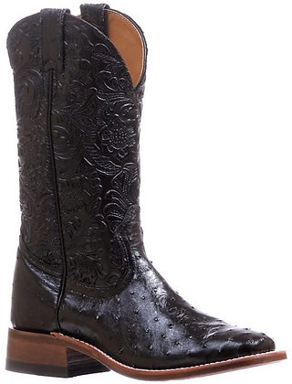 Ladies Boulet Ostrich Wide Square Toe Cowgirl Boot 5525