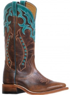 Ladies Boulet Wide Square Toe Cowgirl Boot 8294