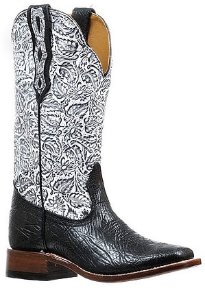 Ladies Boulet Wide Square Toe Cowgirl Boot 6295