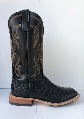 Mens Anderson Bean Black Lux Horn Back Caiman Boots 321812