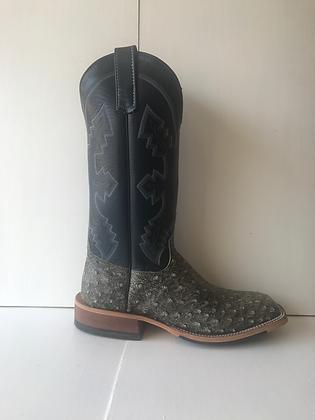 Men's Anderson Bean Ostrich Wide Square Toe Cowboy Boot 9750A