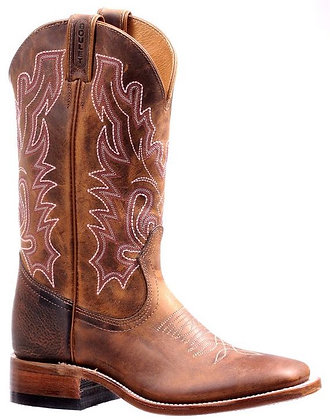Ladies Boulet Wide Square Toe Cowgirl Boot 7220