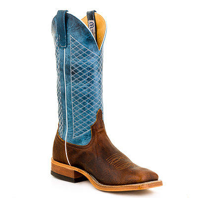 Men's Anderson Bean Bison Wide Square Toe Cowboy Boot S1116