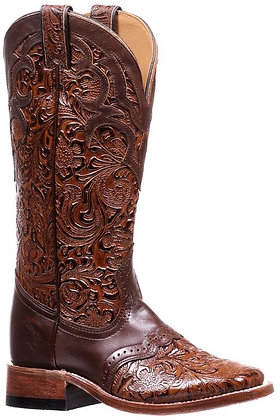 Ladies Boulet Wide Square Toe Cowgirl Boots 1062