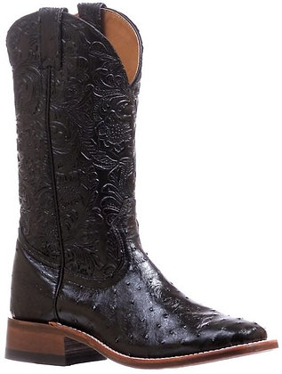 Ladies Boulet Smooth Ostrich Wide Square Toe Cowgirl Boot 5527