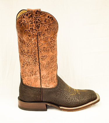 Ladies Anderson Bean Chocolate Hippo Cowgirl Boot 3687M