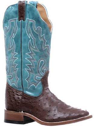 Ladies Boulet Ostrich Wide Square Toe Cowgirl Boot 5508