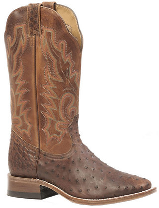 Men's Boulet Ostrich Wide Square Toe Boot 3518