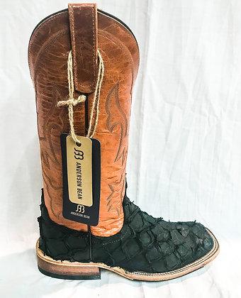 Mens Anderson Bean Black Matte Big Bass Cowboy Boots 324758