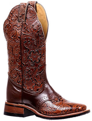 Ladies Boulet Wide Square Toe Cowgirl Boots 2050