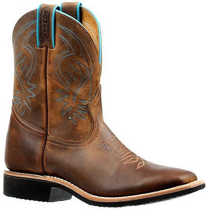 Ladies Boulet Wide Square Toe Cowgirl Boot 6447