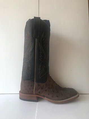 Men's Anderson Bean Ostrich Wide Square Toe Cowboy Boot 7515A