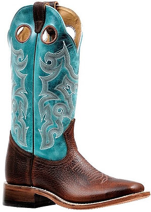 Ladies Boulet Wide Square Toe Cowgirl Boot 6320