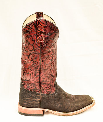 Ladies Anderson Bean Chocolate Elephant Cowgirl Boot 3692M