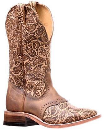 Ladies Boulet Wide Square Toe Cowboy Boot 6341