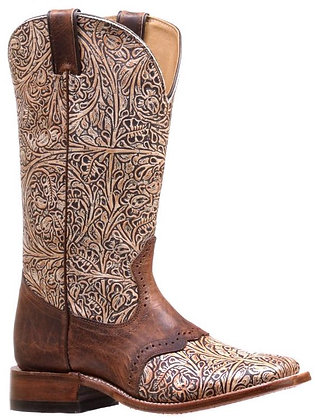 Ladies Boulet Wide Square Toe Cowgirl Boot 7045