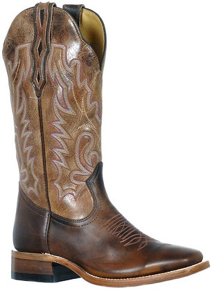 Ladies Boulet Wide Square Toe Cowboy Boot 9366