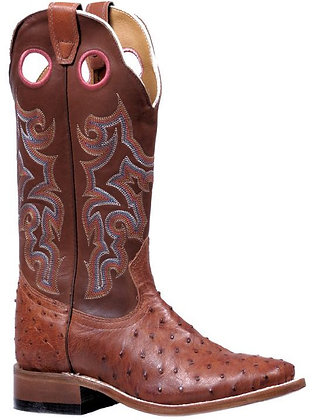 Ladies Boulet Ostrich Wide Square Toe Cowgirl Boot 5510