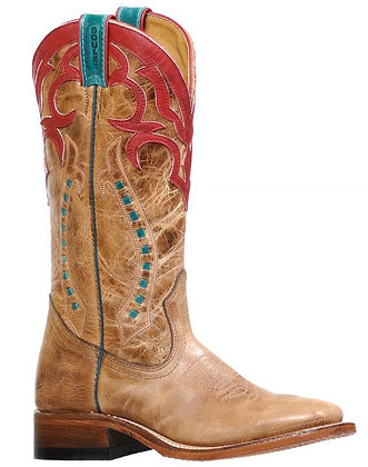 Ladies Boulet Wide Square Toe Cowgirl Boot 8236