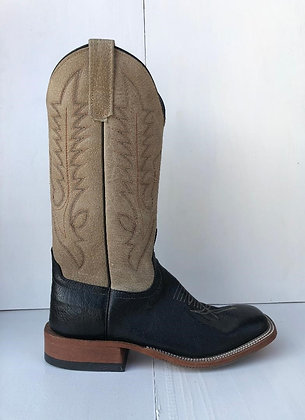 Men's Anderson Bean Smooth Ostrich Wide Square Toe Cowboy Boot 4793M