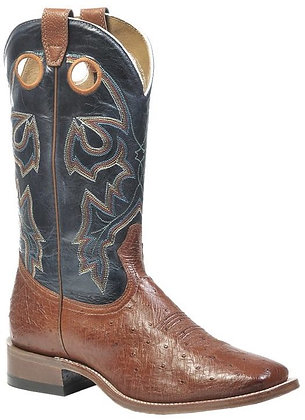 Men's Boulet Smooth Ostrich Wide Square Toe Cowboy Boot 9523