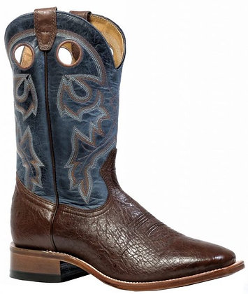 Men's Boulet Smooth Ostrich Wide Square Toe Cowboy Boot 4506
