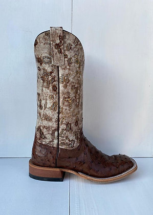 Ladies Anderson Bean Kango Tobac Mad Dog FQ Ostrich Boot 323678