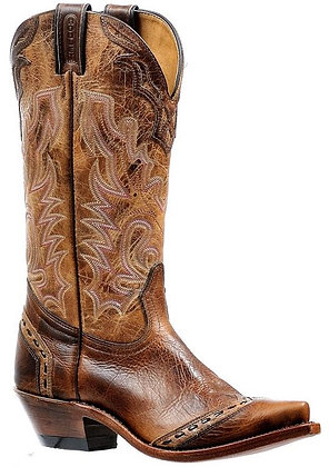 Ladies Boulet Snip Toe Cowgirl Boot 6611