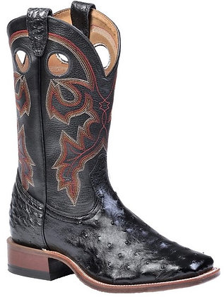 Men's Boulet Full Quill Ostrich Wide Square Toe Boot 8526