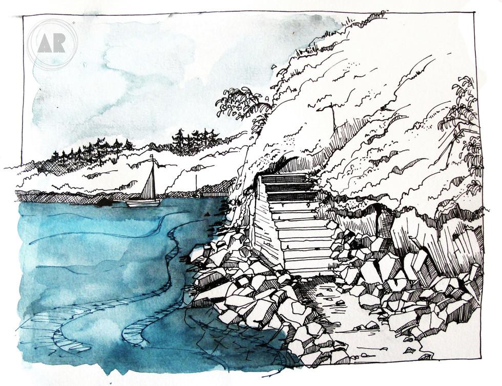 Le Bélon à marée haute