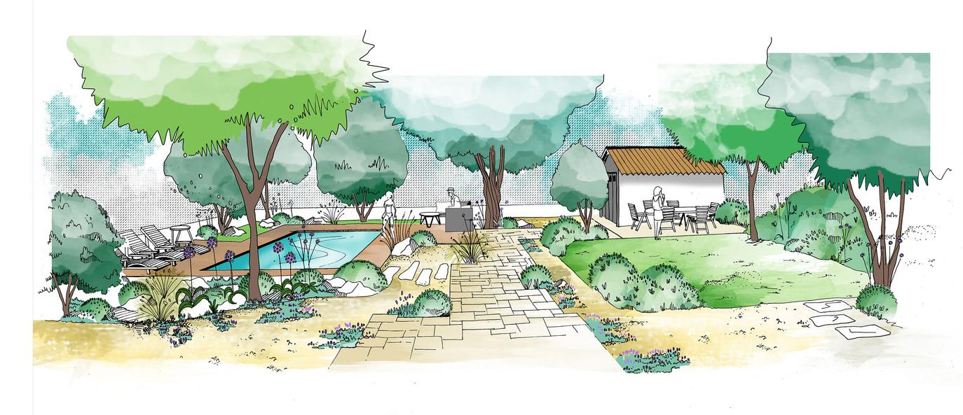 Etude pour un jardin privé