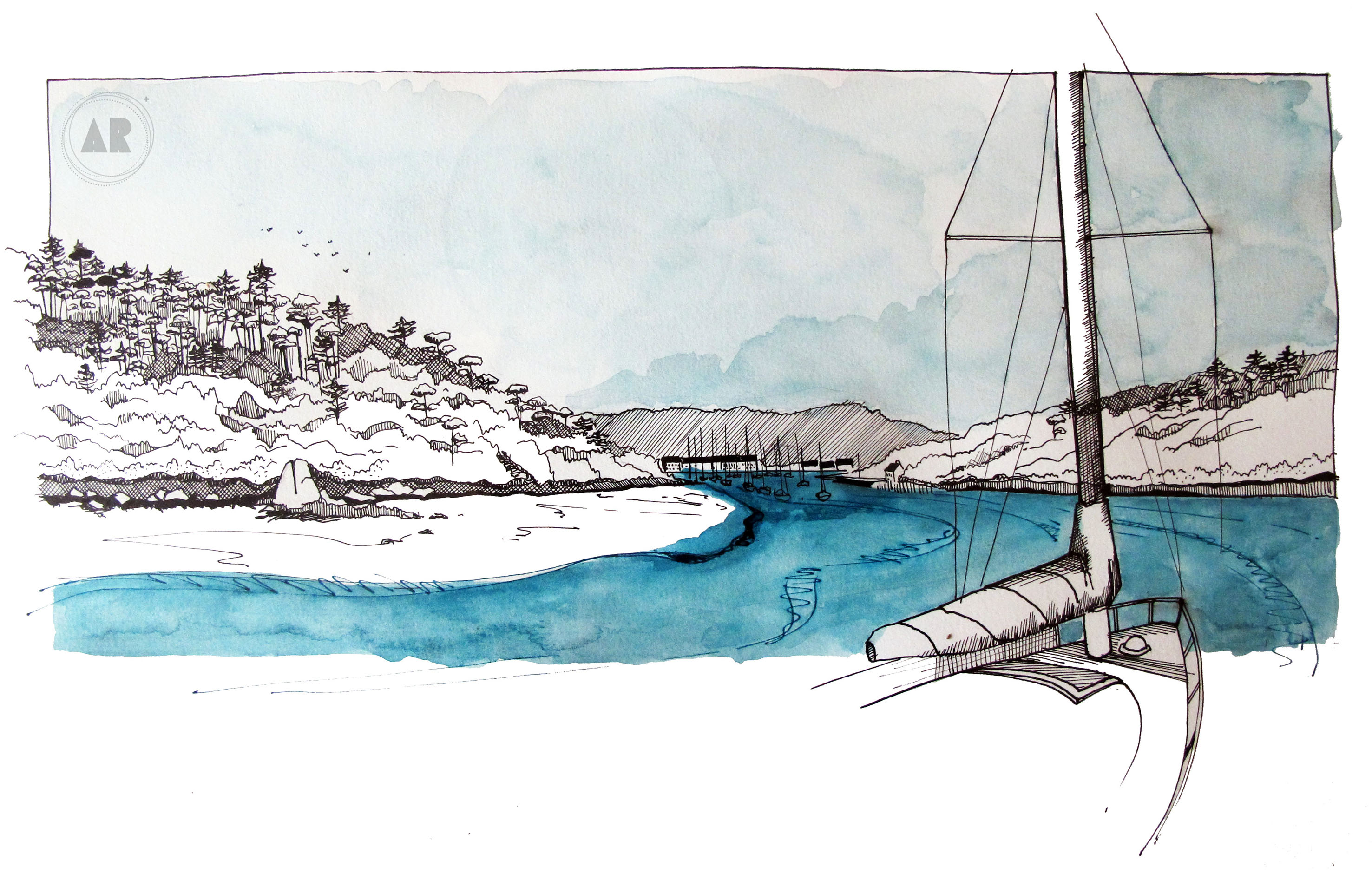 Sur les rives du Bélon