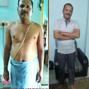 Dilip Mishra - age 60 - 12kg weight loss