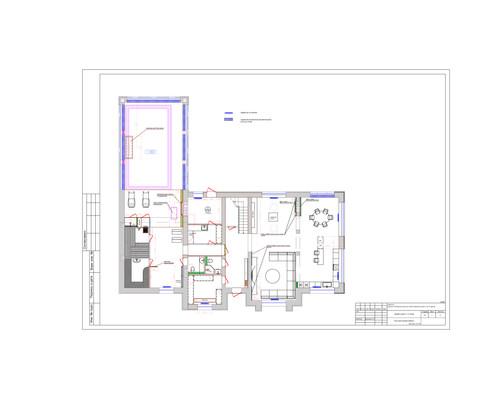 Чертеж 1 этажа
