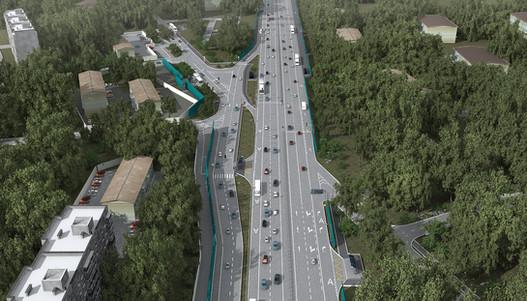 3d визуализация развязки Минского шоссе