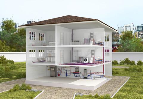 Модель дома 3d, интерактивная панорама