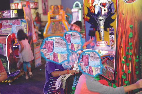 Carlos Arrendondo: Chuckie Cheese Playing Print