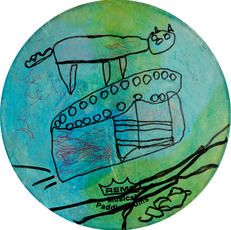 Untitled Paddle Drum. Candice Veasley &