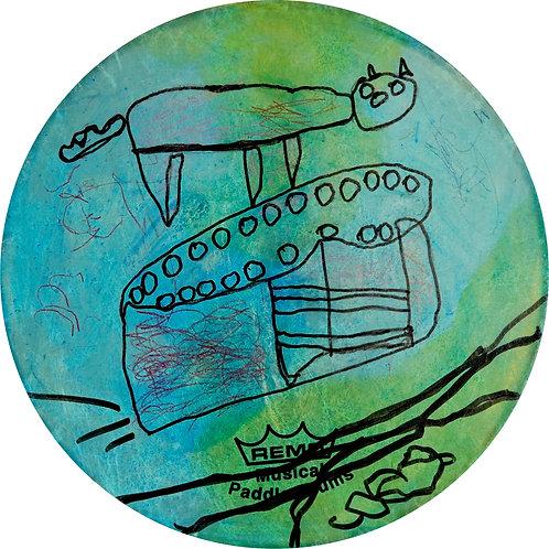 Untitled Drum by Candice Veasley & Margaret Pele