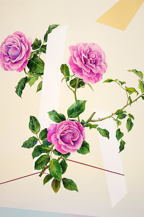 Composition with Rose (Print) by Lawrence Yun