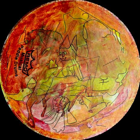 Untitled Paddle Drum. Randi Carter. Cris