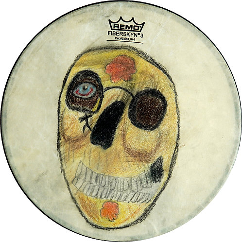 Untitled Drum by Angela Olivas