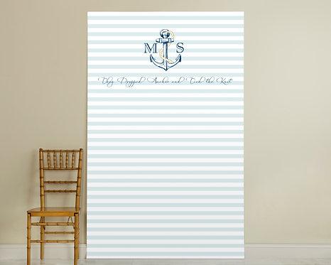 Light Blue Stripe Backdrop