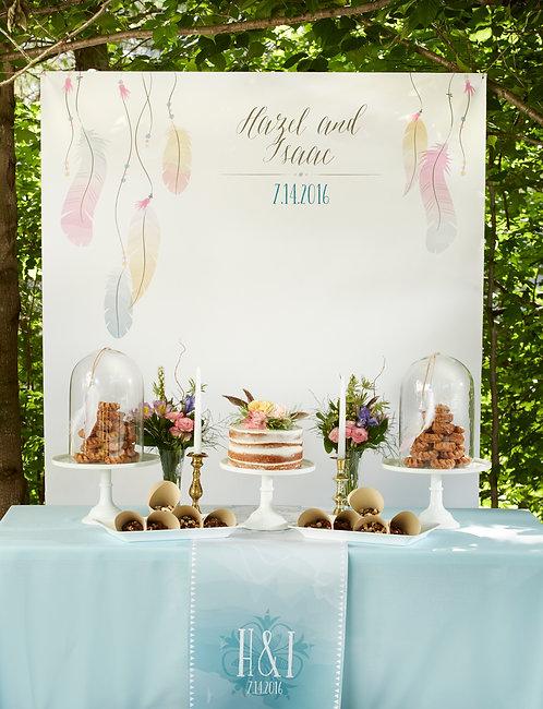 Boho Temalı Photobooth, backdrop dekor tasarımı