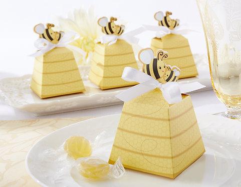 """""""Sweet As Can Bee"""" Arı Figürlü Hediyelik Nikah Şekeri Kutusu"""
