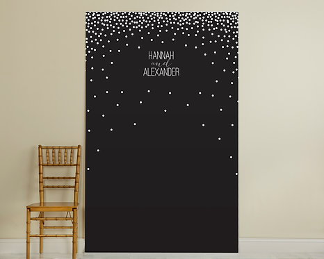 Black and White Dotted Backdrop