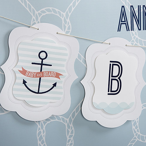Nautical Baby Banner