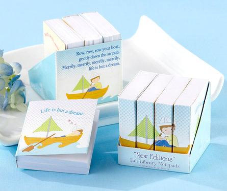 """""""New Editions"""" Lil' Library"""" Not Defterleri Bebek Şekeri-Mavi (4'lü Set)"""